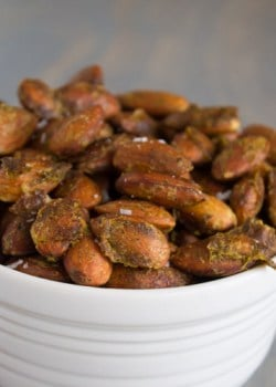 Arugula Pesto Roasted Almonds