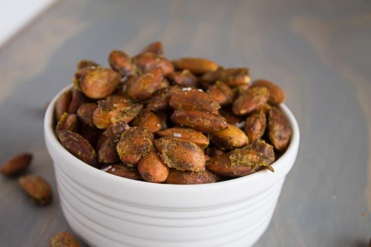Arugula Pesto Roasted Almonds