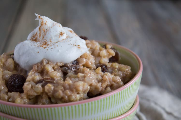 Brown Rice Pudding | @TheFoodieDietiian