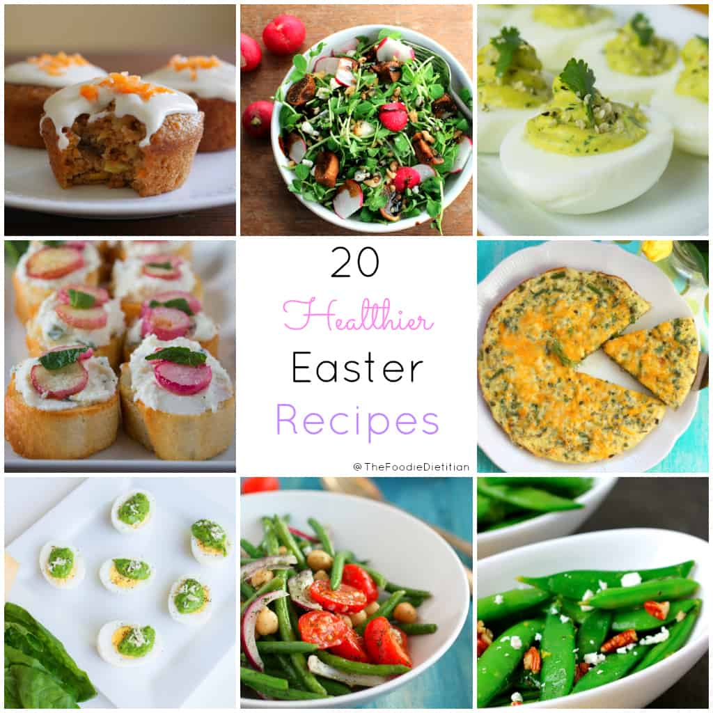 Just in time for Easter and the start of spring, I've rounded up 20 healthier Easter recipes fit for holiday entertaining or just to celebrate the spring season! | @TheFoodieDietitian