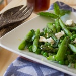 Asparagus Pea and Feta Salad with Lemon Balm Vinegar