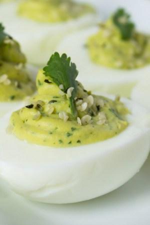 Avocado Hemp Deviled Eggs