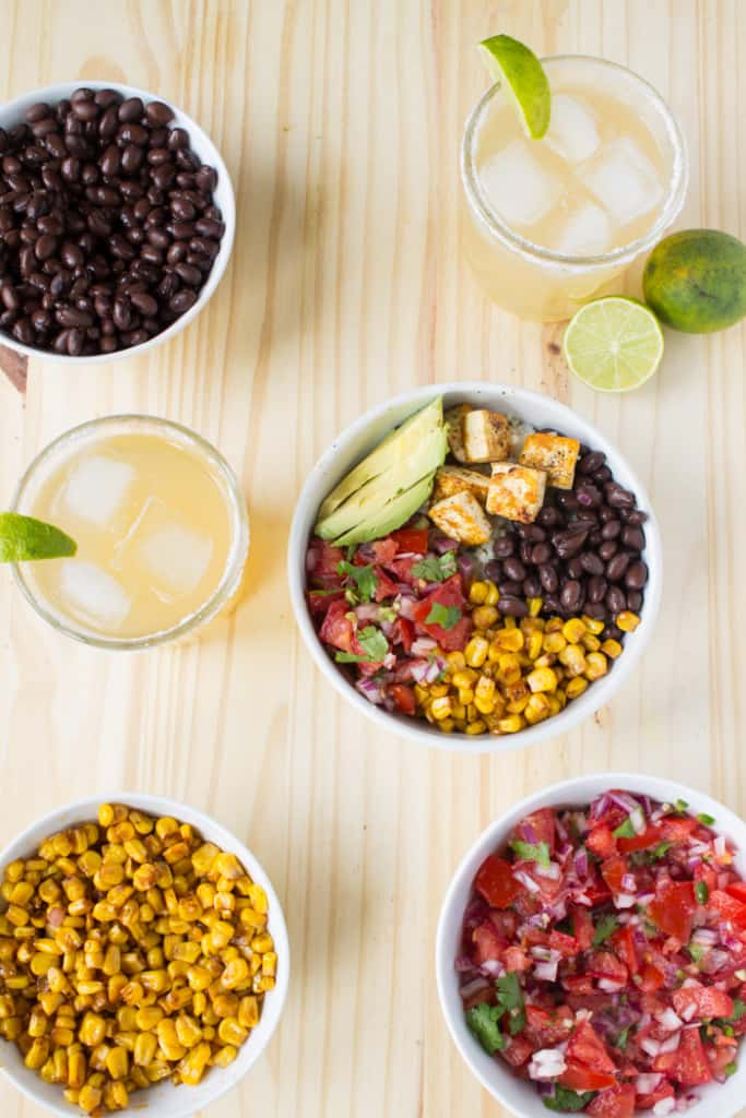 Chipotle Inspired Vegan Burrito Bowls | @TheFoodieDietitian