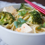 Easy Curried Noodles with Tofu and a Giveaway!
