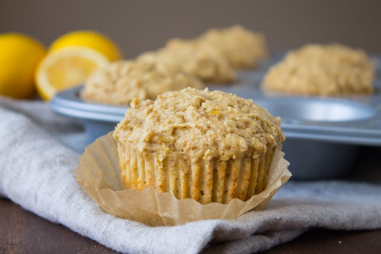 Whole-Wheat Meyer Lemon Ricotta Muffins