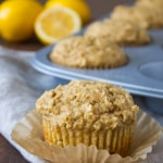Whole Wheat Meyer Lemon Ricotta Muffins