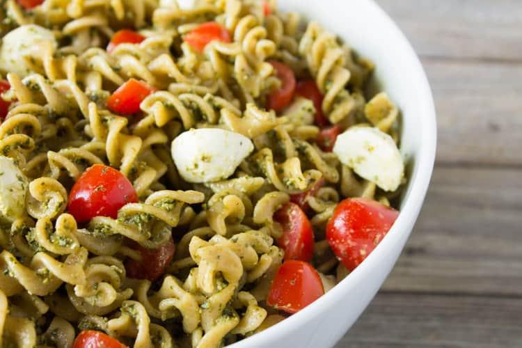 Hemp Pesto Pasta Salad | karalydon.com