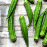 Roasted Okra with Chili Oil