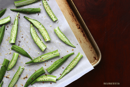 Easy Roasted Okra with Chili Oil
