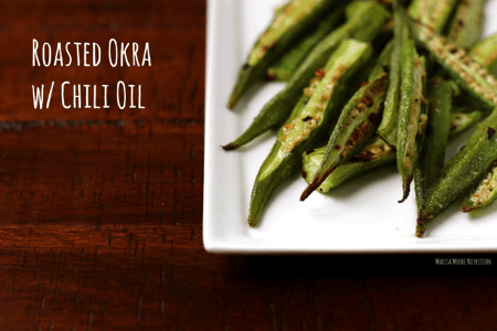 Roasted Okra with Chili Oil via @marisamoore | karalydon.com