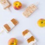 Roasted Peaches N' Cream Popsicles
