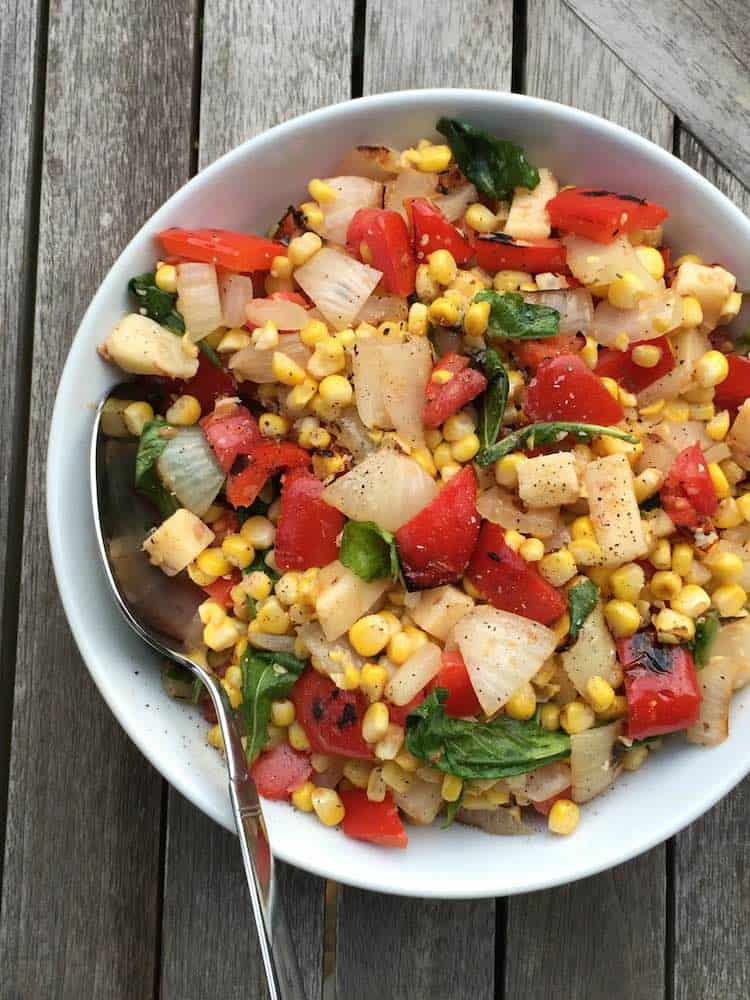 Smoky Corn Pepper Salad via @HolleyGrainger   karalydon.com