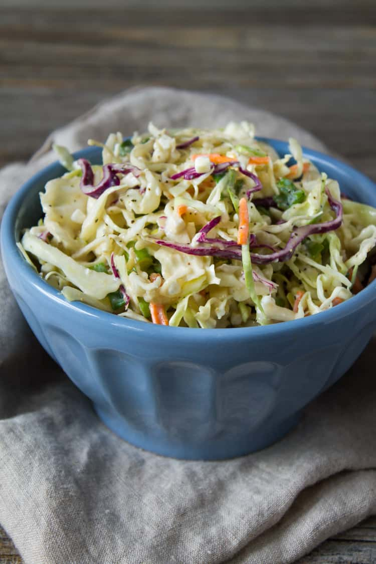 Creamy Cottage Cheese Coleslaw -1