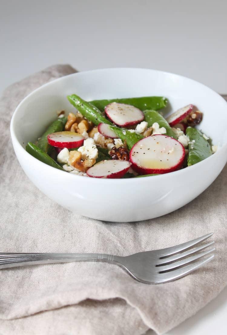 Sugar Snap Pea Radish and Feta Salad-2