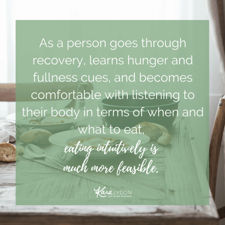 Is sticking to an eating routine good or bad? #intuitiveeating #EDrecovery