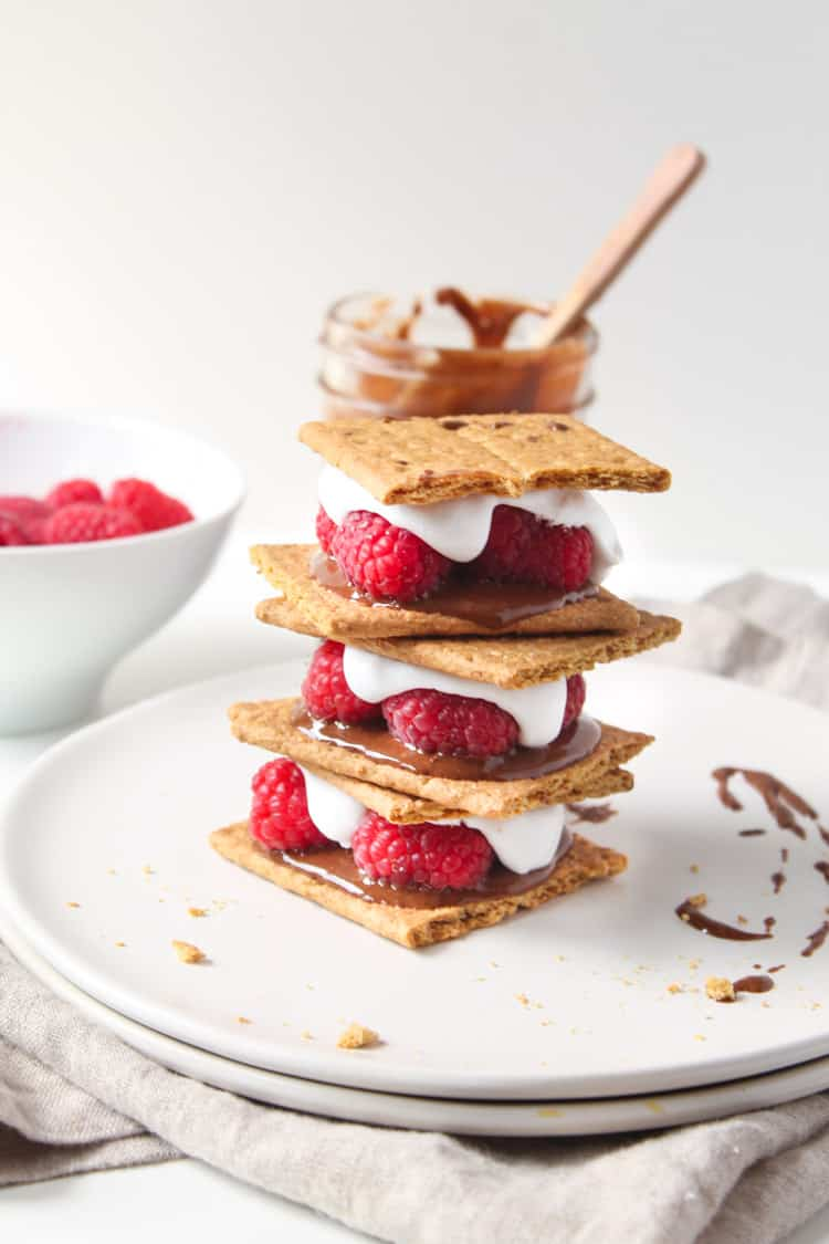 Vegan Raspberry Nutella S'mores -3-2