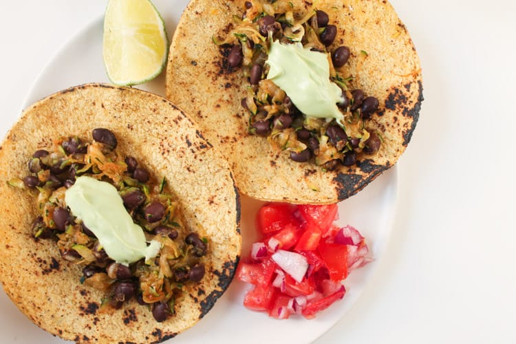 Zucchini Black Bean Tacos with Avocado Crema-4-2