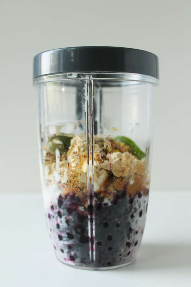 Blueberry Basil Cheesecake Smoothie -10