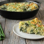 Swiss Chard Potato Chive Frittata