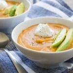 Spicy Creamy Sweet Potato Hummus Soup