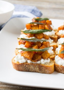Butternut Squash and Sage Crostini square