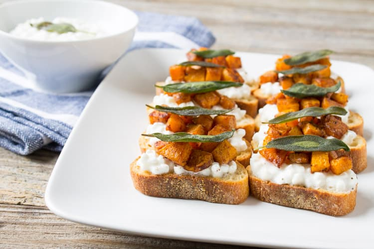 Butternut Squash and Sage Bruschetta