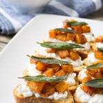 Butternut Squash and Sage Crostini