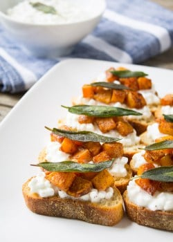 Butternut Squash and Sage Crostini