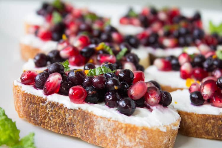 Wild Blueberry Pomegranate Bruschetta -1
