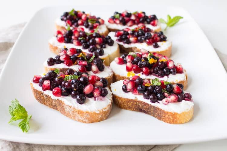 Wild Blueberry Pomegranate Bruschetta -2