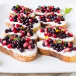 Wild Blueberry Pomegranate Bruschetta