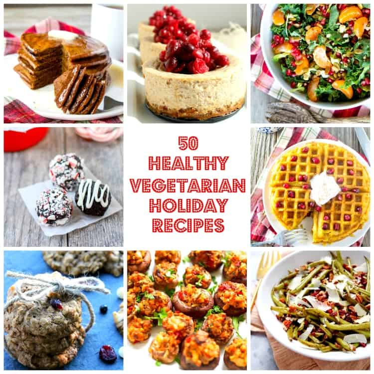 Looking for veg-friendly holiday menu inspiration? I've rounded up 50 of the most delicious healthy vegetarian holiday recipes for you.
