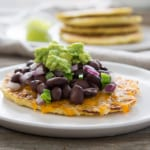 Black Bean and Jalapeno Cauliflower Tostada