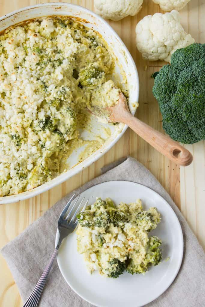 recipe: cauliflower broccoli rice casserole [9]