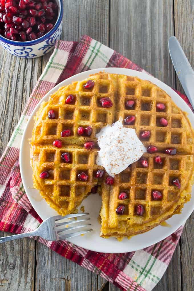 Dairy Free Whole Wheat Butternut Squash Waffles sq-10