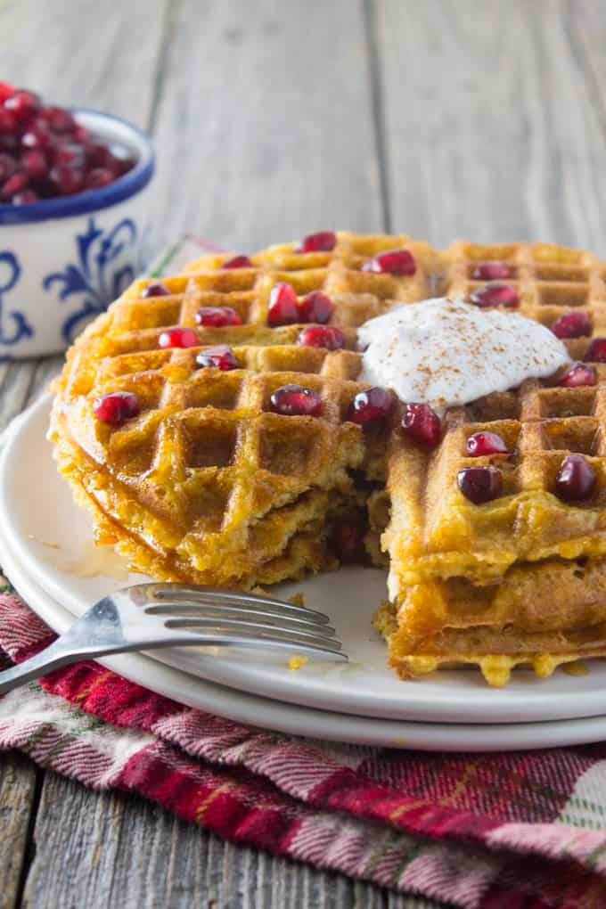 Dairy Free Whole Wheat Butternut Squash Waffles sq-11