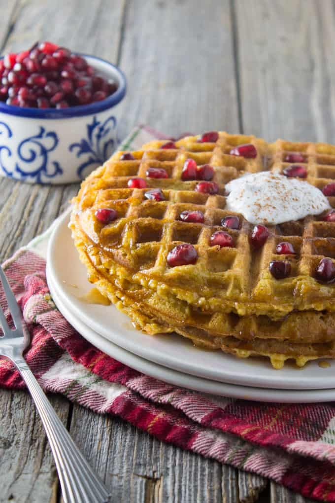 Dairy Free Whole Wheat Butternut Squash Waffles sq-9