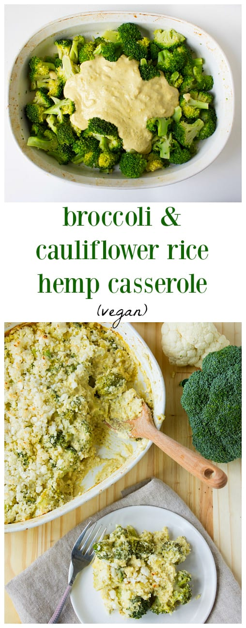 This Vegan Broccoli And Cauliflower Rice Hemp Casserole Is The Perfect Vegan Friendly Twist On A Traditional Holiday Classic Side Dish