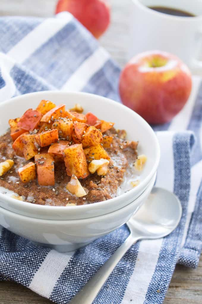 Gluten Free Apple Pie Teff Porridge