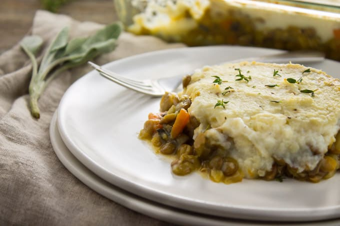 Vegan Shepherd's Pie with Cauliflower Mash
