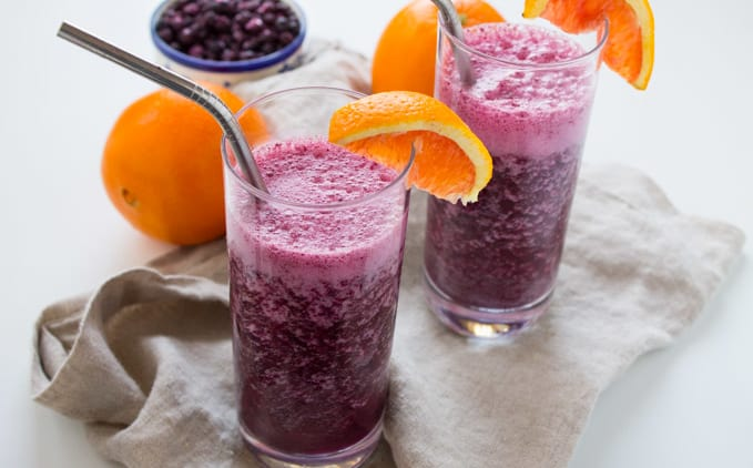 Wild Blueberry Immune-Boosting Tropical Smoothie and Smoothie Recipe Contest
