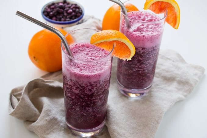 Wild Blueberry Tropical Immune-Boosting Smoothie and Smoothie Recipe Contest