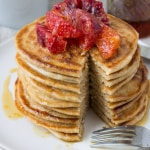 Blood Orange Whole Wheat Ricotta Pancakes