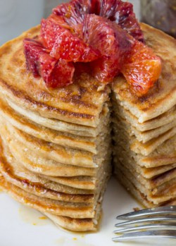 Blood Orange Whole Wheat Ricotta Pancakes
