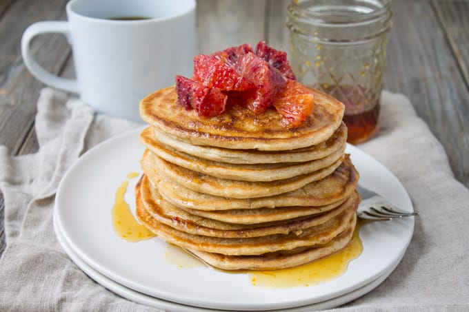 Blood Orange Ricotta Pancakes