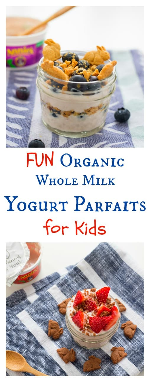 A review of Annie's Organic Whole Milk Yogurt (brand new)! Read on to learn why this dietitian does not fear fat and spoon into my creative and fun yogurt parfaits your family is sure to love.