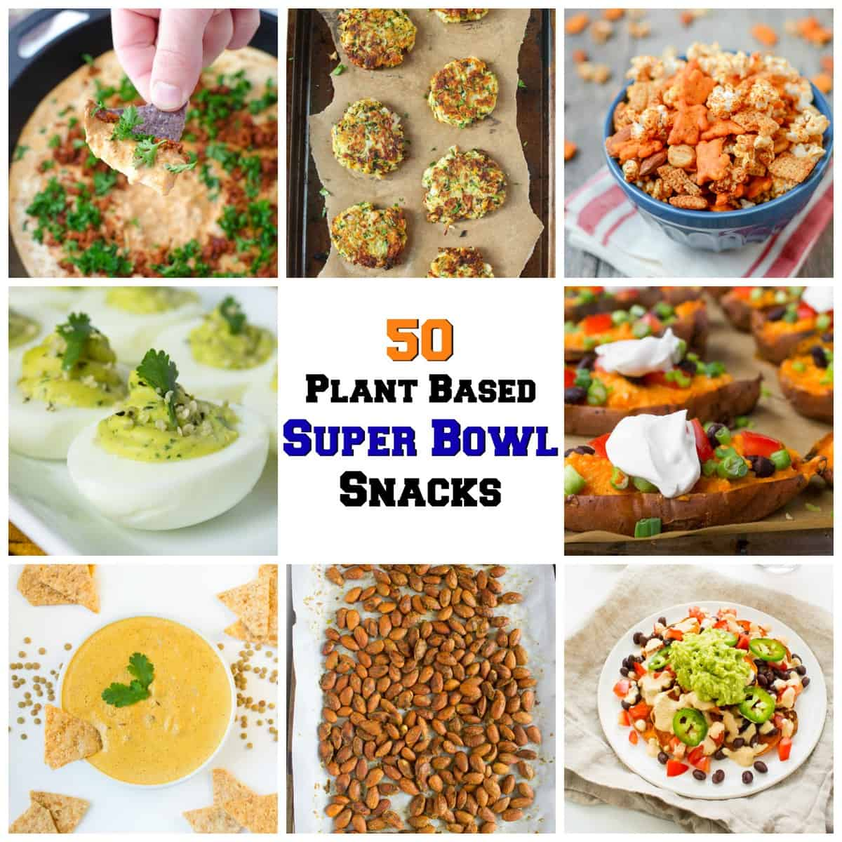 Kara lydon 50 plant based super bowl snacks the foodie dietitian picmonkey collage forumfinder Image collections