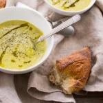 Vegan Asparagus Leek and Hemp Soup