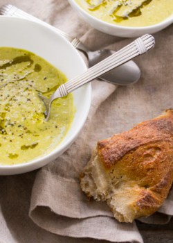Asparagus Leek and Hemp Soup