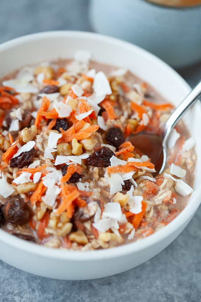 carrot cake overnight oats